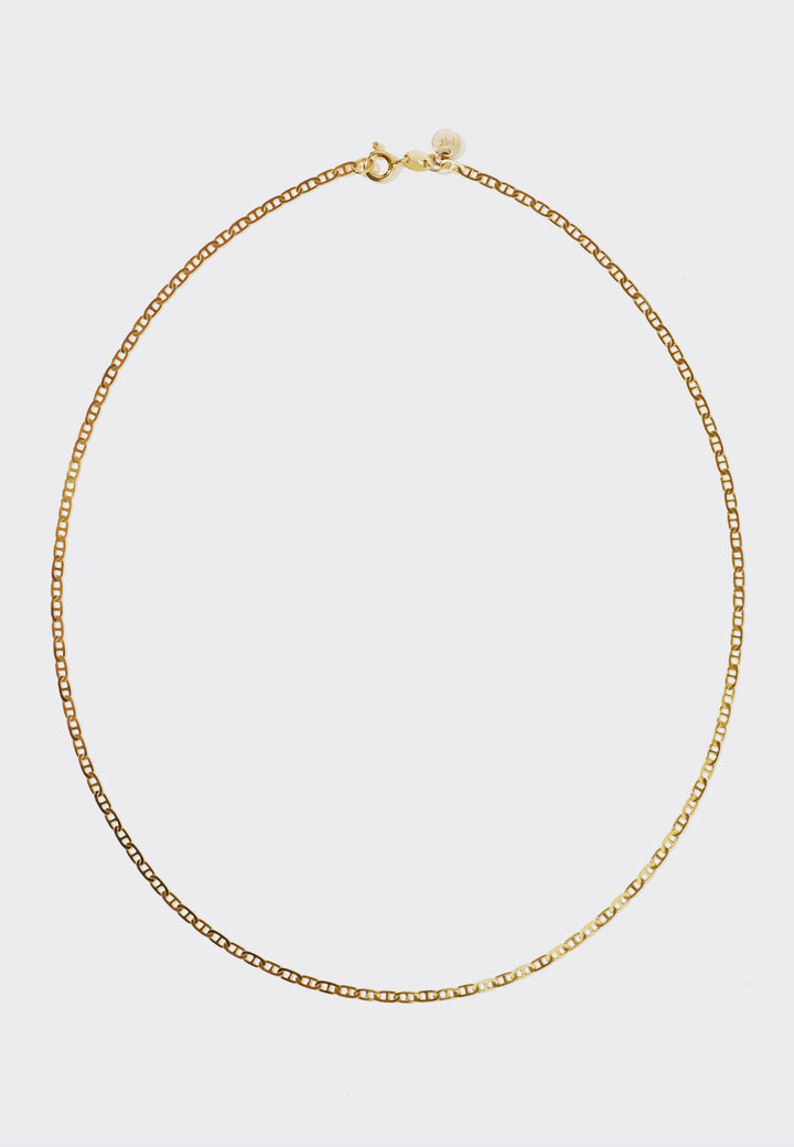 Medium Anchor Chain Necklace - gold
