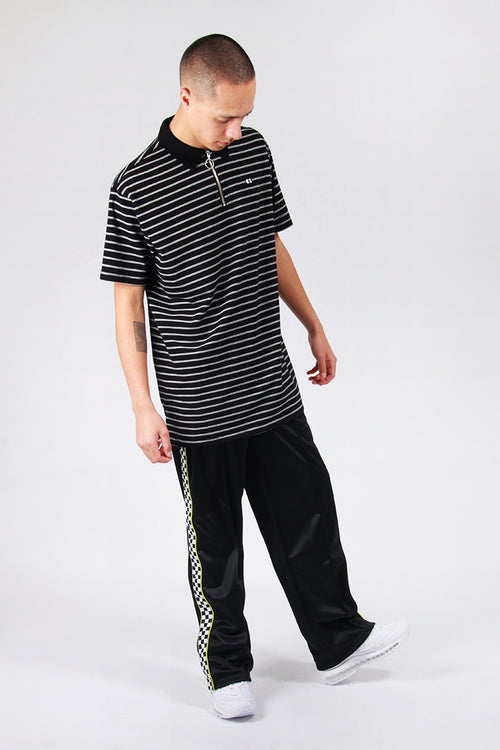 Lazy Oaf Thin Line Zip T-Shirt - black/white | GOOD AS GOLD | NZ