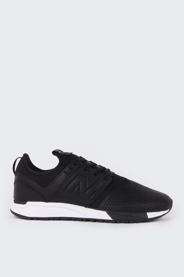 New Balance Leather 247 - black/white | GOOD AS GOLD | NZ