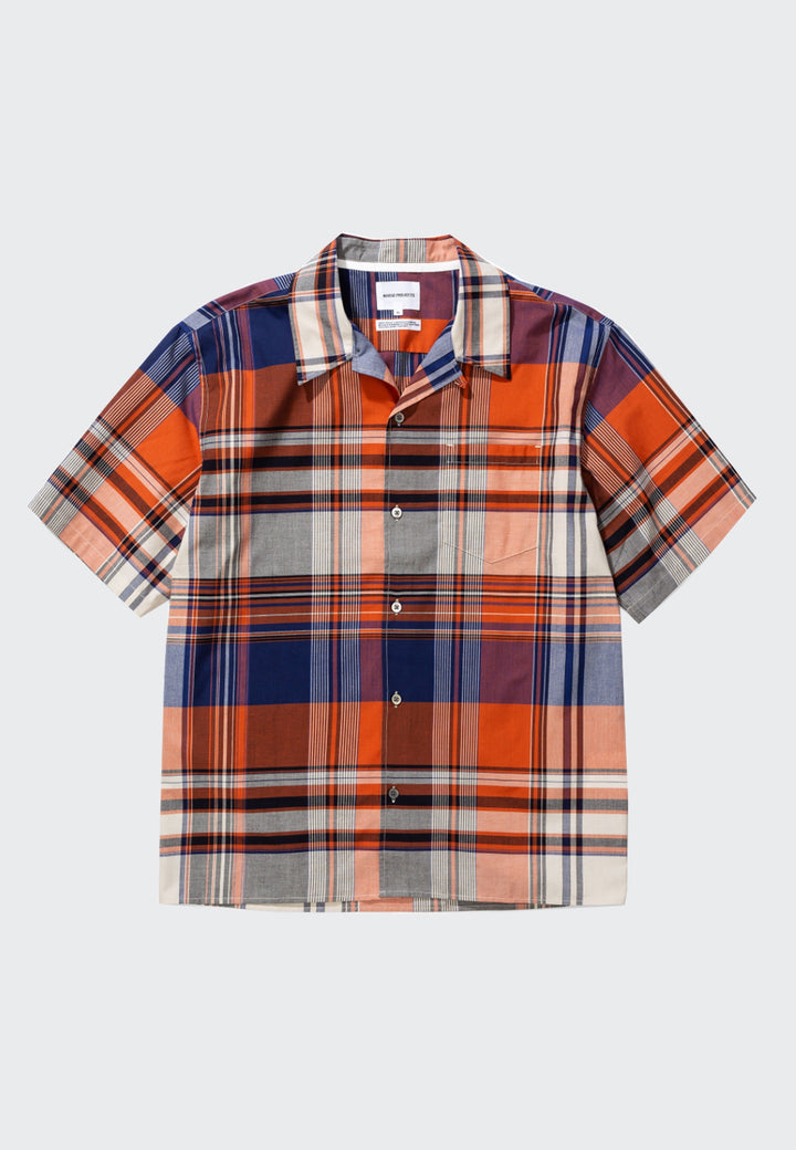 Carsten Madras Shirt - golden orange