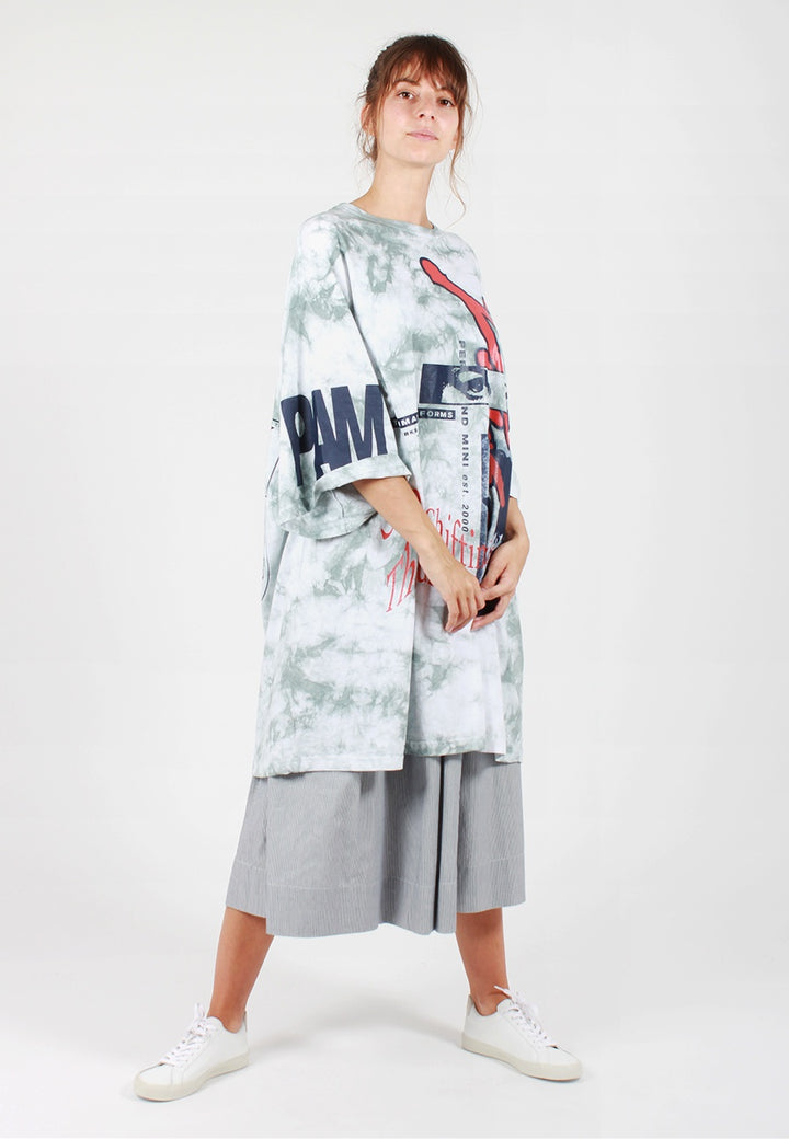 P.A.M. Window Clean Oversized T-Shirt - tie dye blue - Good As Gold