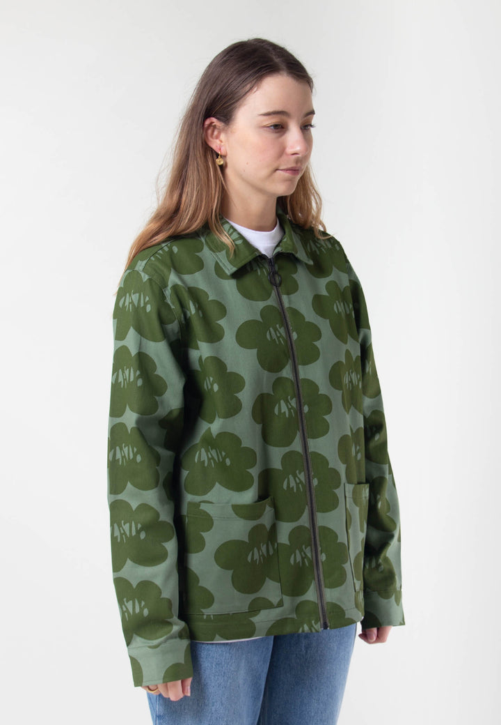 Lazy Flowers Jacket - green