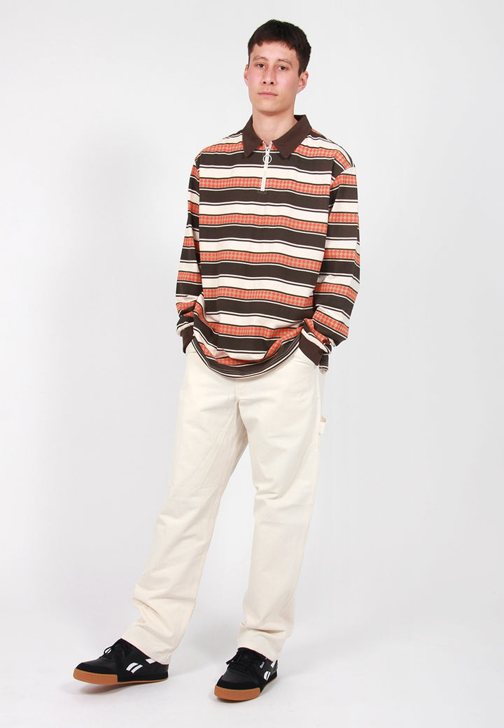 Gramps Striped Knit Sweater - brown
