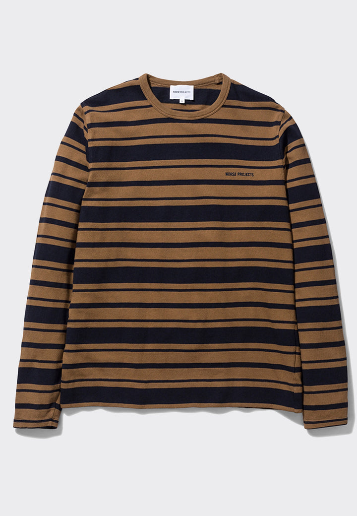 Holger Compact Cotton Stripe Top - duffle