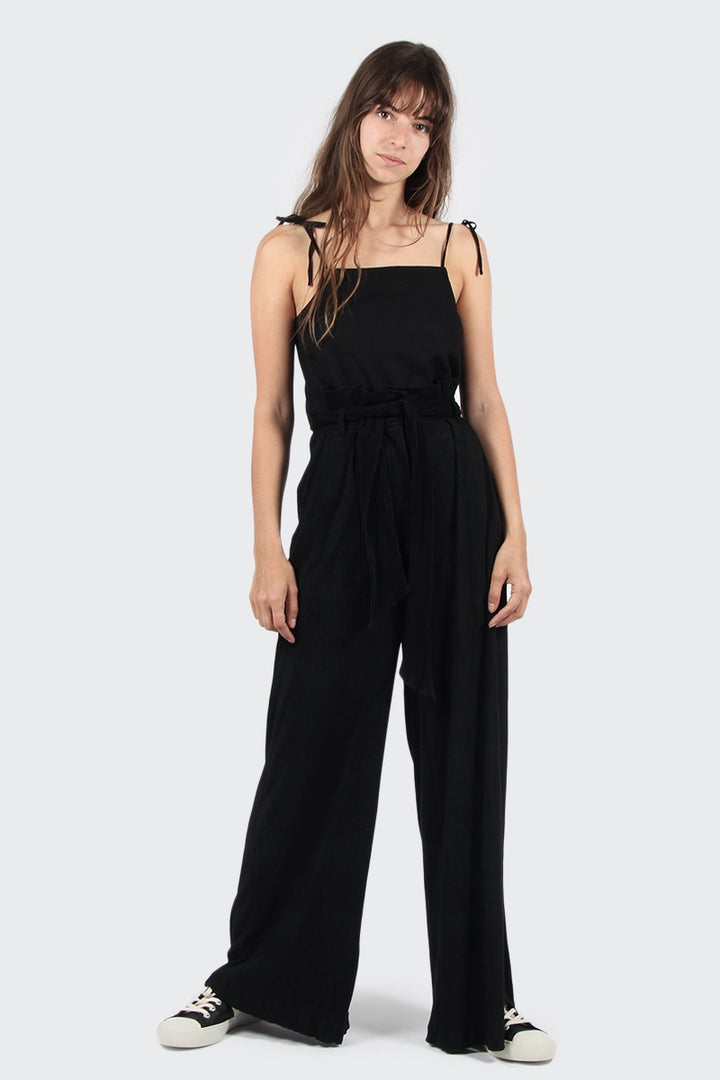 Native Youth Aurelius Wide Leg Pants - black | GOOD AS GOLD | NZ