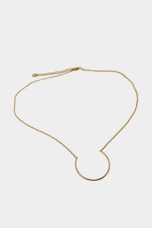 WOS Semi Circle Necklace - gold — Good as Gold