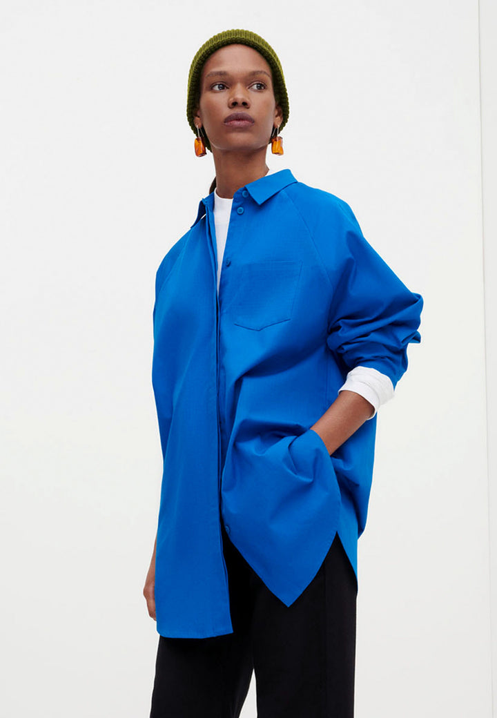 Oversized Shirt - sea blue