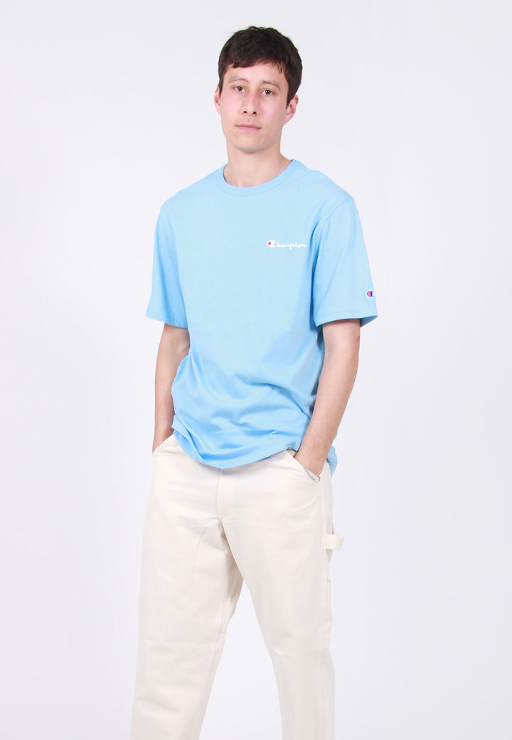 Champion Script Logo Heritage T-Shirt - swiss blue – Good as Gold