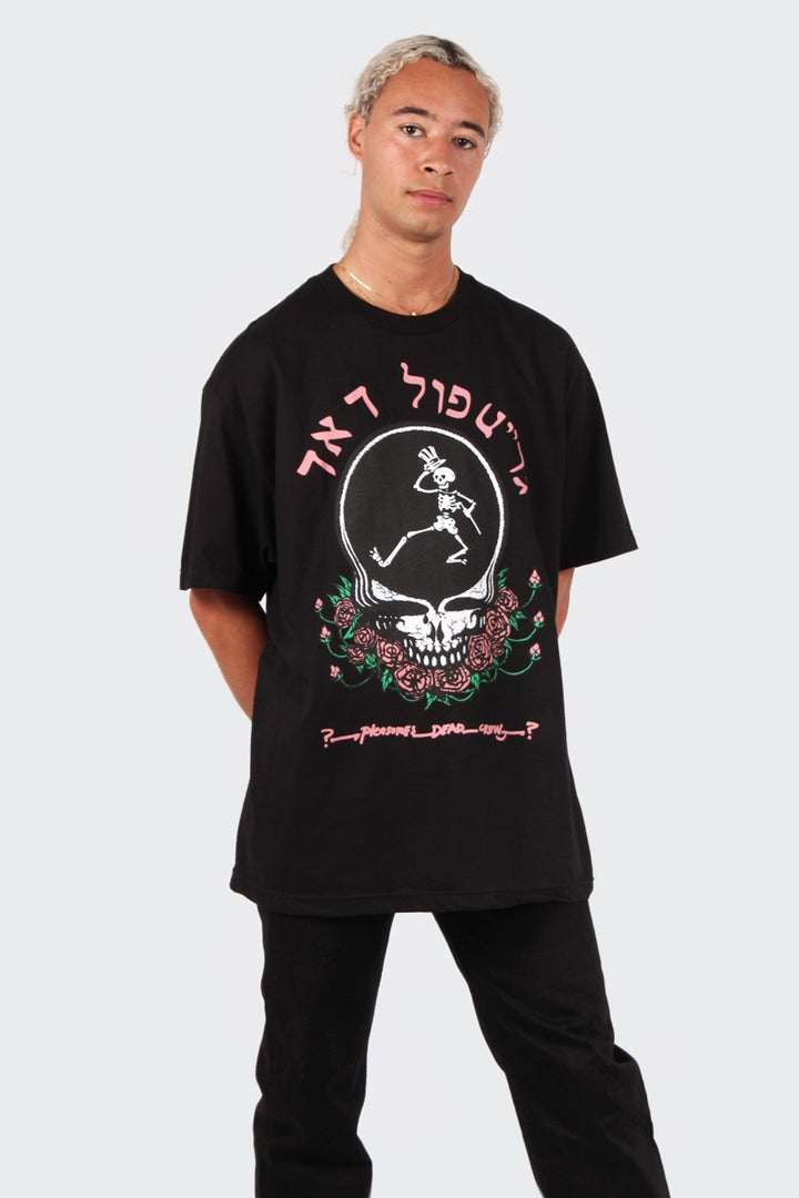 Skull & Rose T-Shirt -black