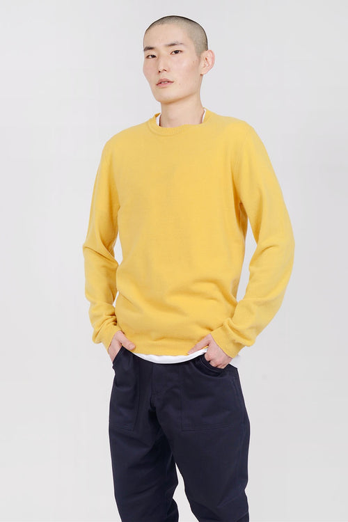 Norse Projects Sigfred Light Wool Sweater - sunwashed yellow — Good as Gold