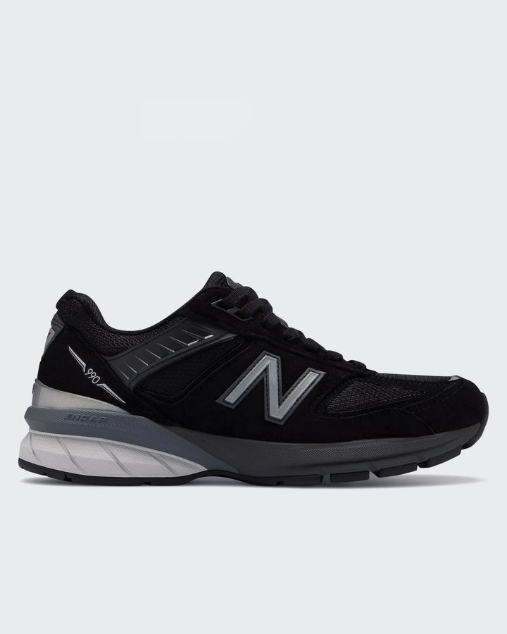 New Balance Womens 990v5 Made in US - black/silver - Good As Gold