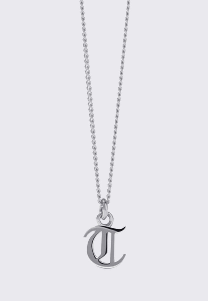 Mini Letter Necklace - silver