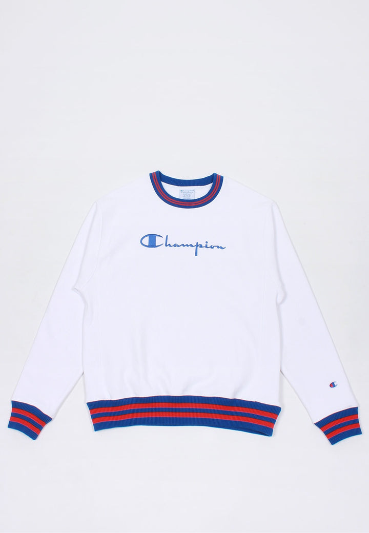 Champion Reverse Weave YD Rib Crew - white — Good as Gold