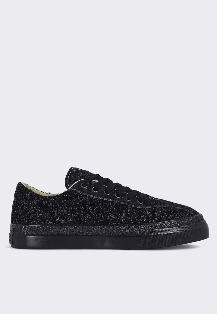 Dellow Hairy Suede - black/black