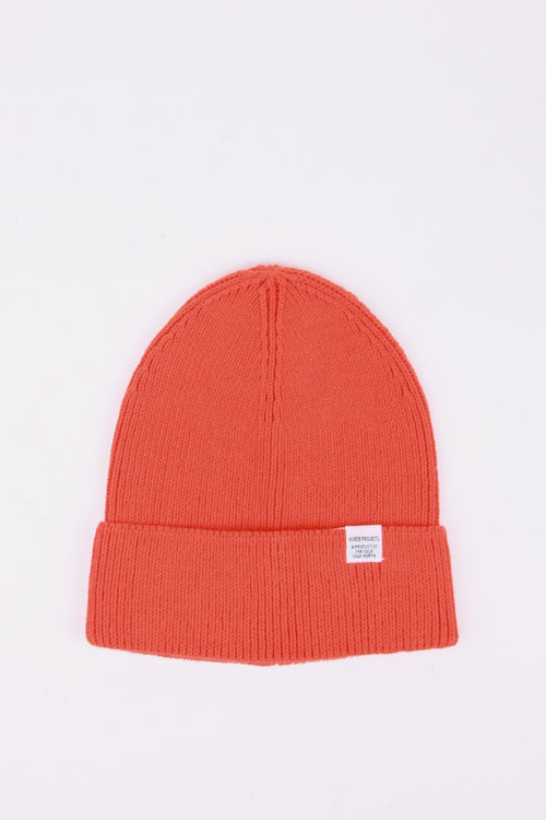 Norse Projects Cotton Watch Beanie - coral red | GOOD AS GOLD | NZ