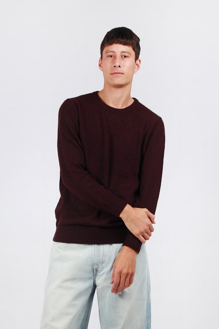 Rollas Old Mate Knit Sweater - burgundy | GOOD AS GOLD | NZ