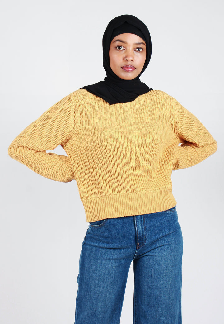 Rollas Sailor Knit Sweater - gold - Good As Gold