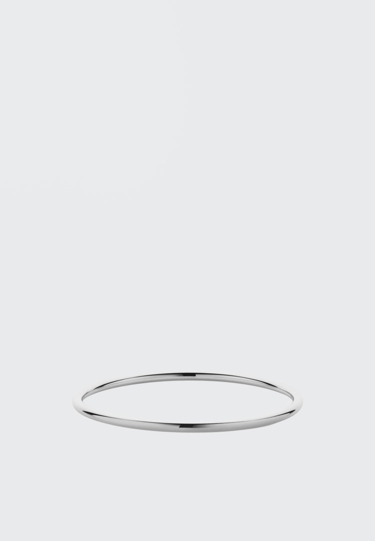 Meadowlark 3mm Round Bangle - silver - Good As Gold