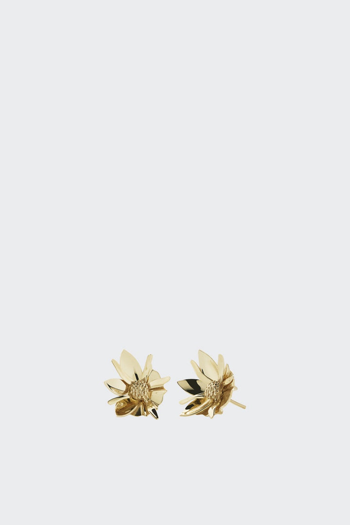 Meadowlark Small Wildflower Earrings - gold | GOOD AS GOLD | NZ