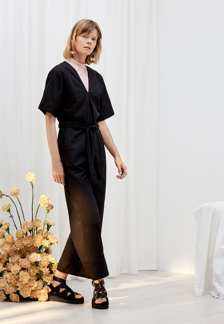 Kowtow Derby Jumpsuit - black | GOOD AS GOLD | NZ