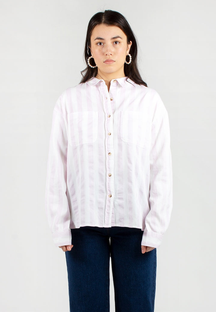 Rollas | Slouch Stripe Shirt - heather | Good As Gold, NZ