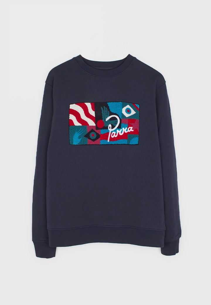 Parra | Grab The Flag Crew Neck Sweater - navy blue | Good As Gold, NZ