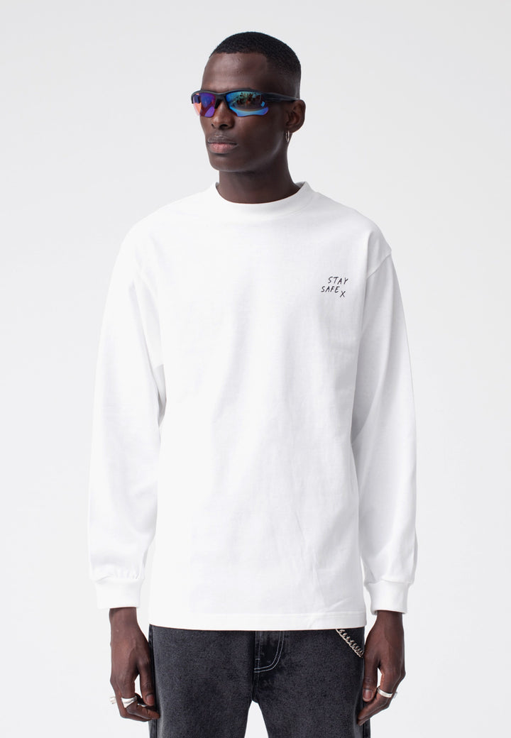 Stay Safe Long Sleeve - white