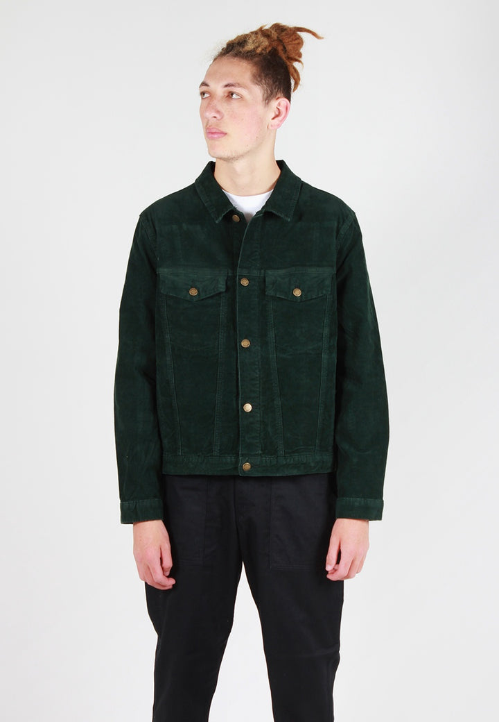 Rollas Denim Jacket - dark forest cord - Good As Gold
