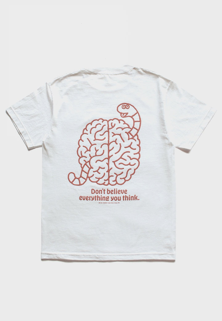 No Comply | Bad Brain T-Shirt - white | Good As Gold, NZ