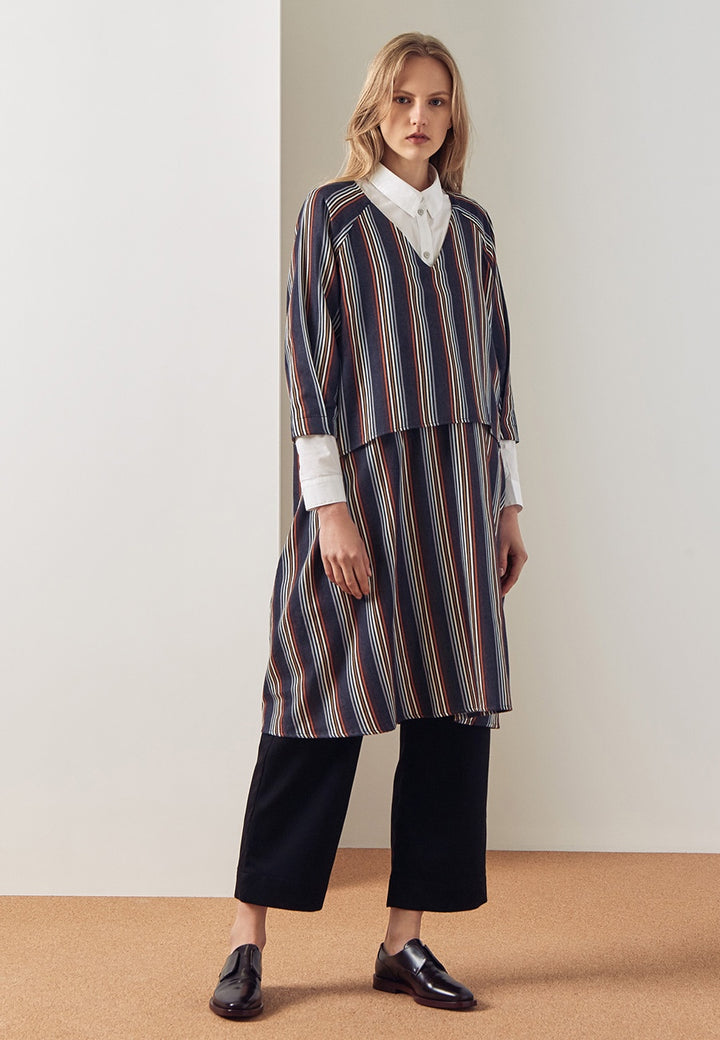 Kowtow Colette Dress - stripe - Good As Gold
