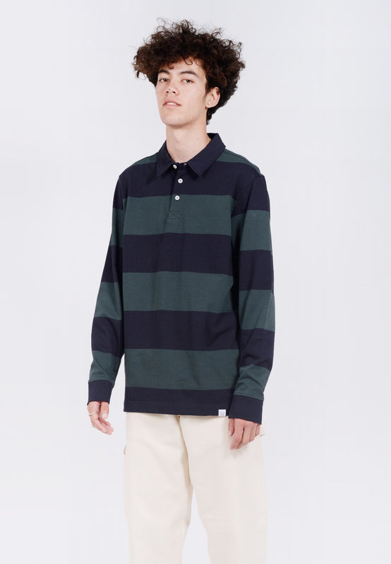 Norse Projects Ruben Polo Shirt - spinnaker green - Good As Gold