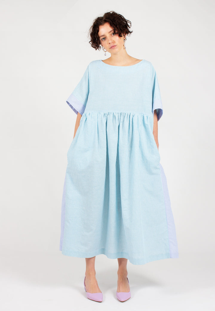 Slowlane | Hannah Dress - green/blue | good As Gold, NZ