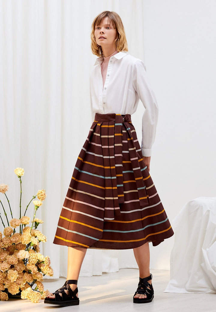 Kowtow Skylight Skirt - landscape stripe