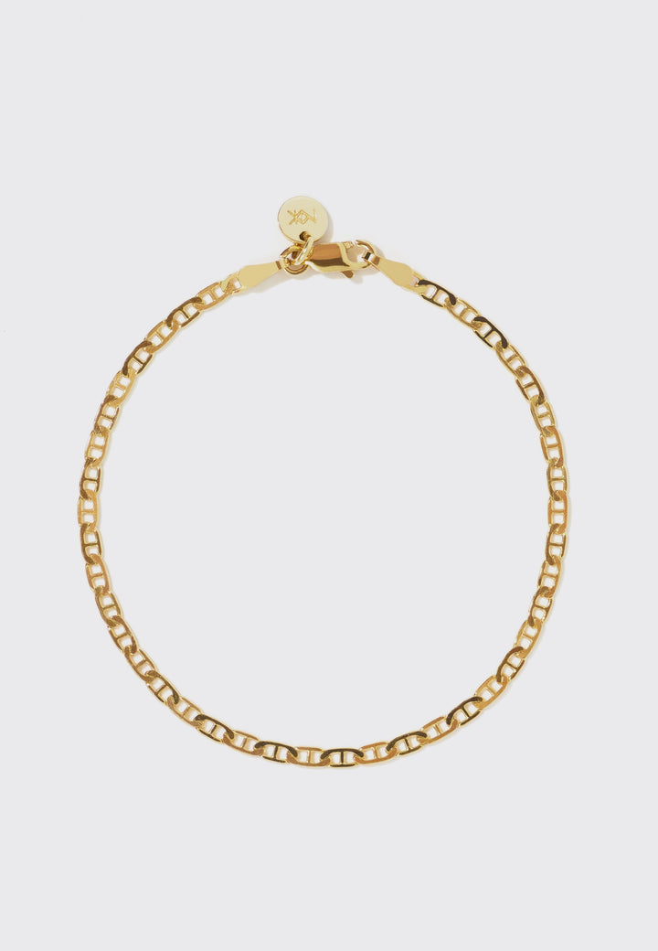 19cm Anchor Chain Bracelet - gold