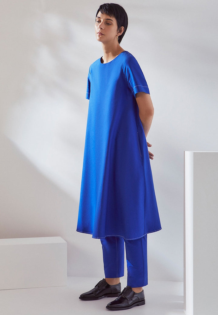 Kowtow | Triangle Dress - cobalt | Good As Gold, NZ