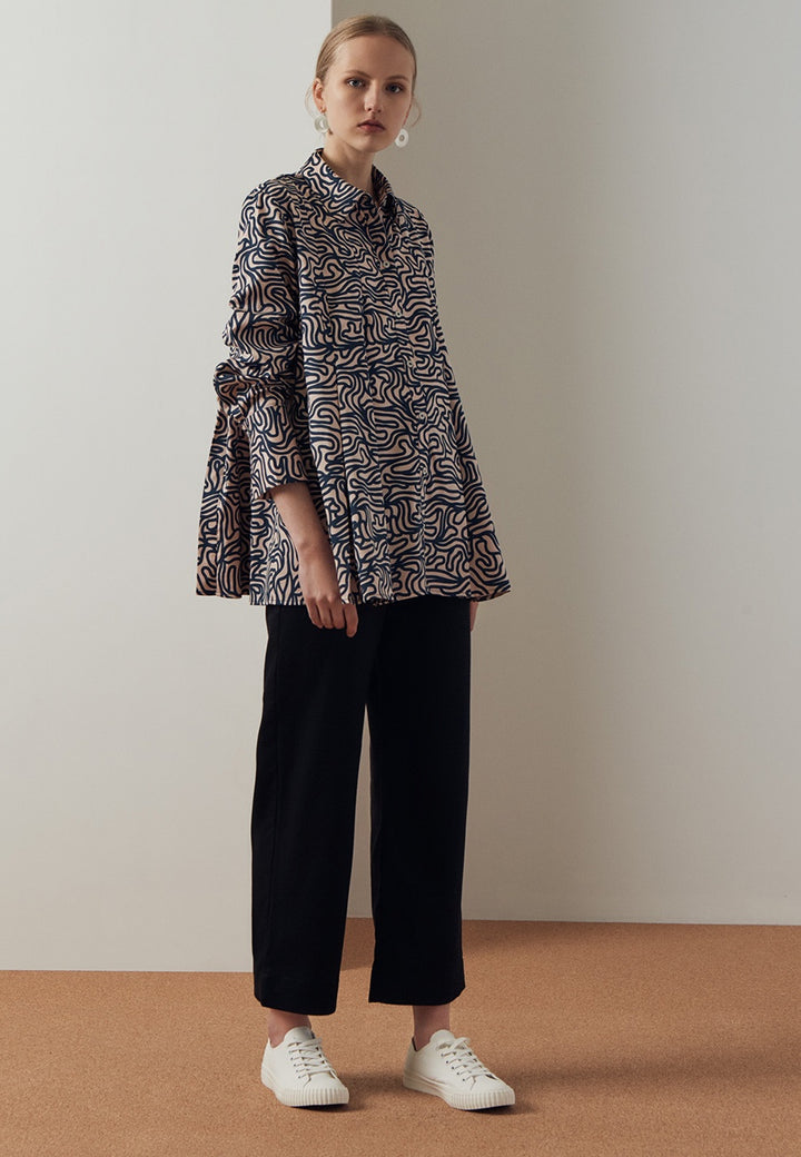 Kowtow Pages Shirt - maze print — Good as Gold