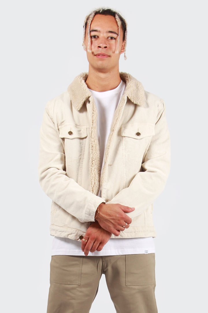 Rollas Denim Sherpa Jacket - natural cord | GOOD AS GOLD | NZ