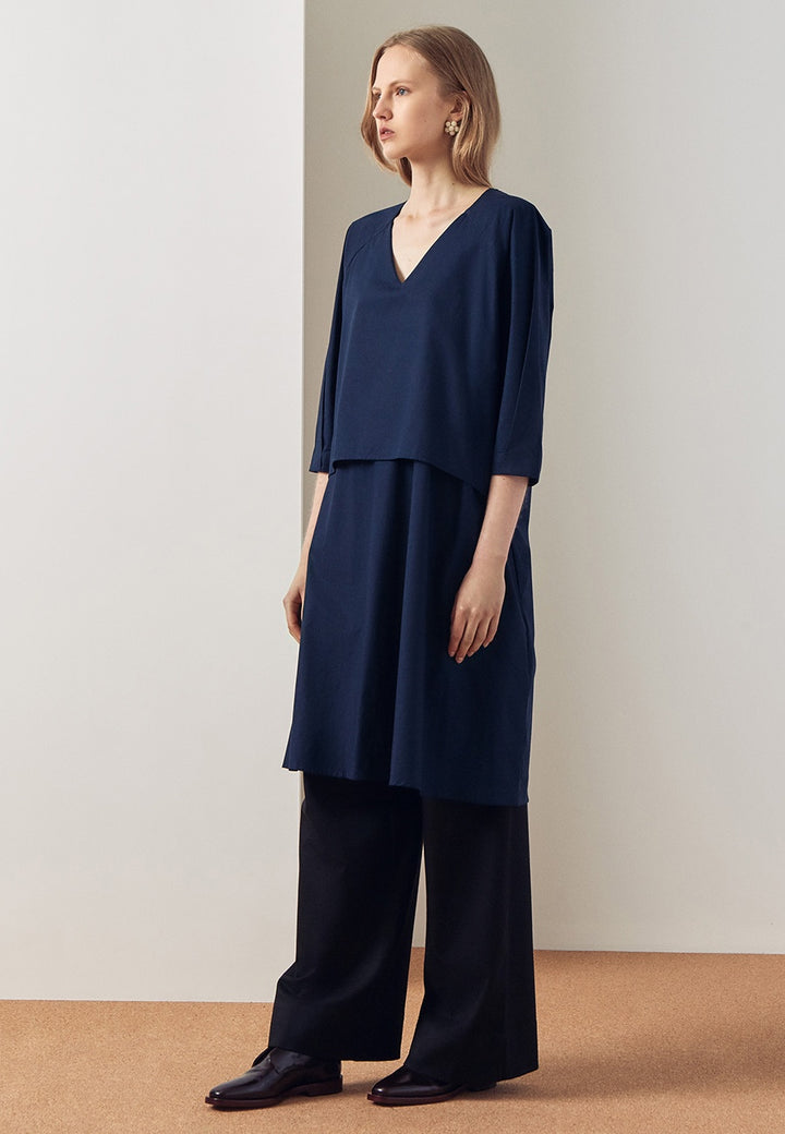 Kowtow Colette Dress - navy - Good As Gold