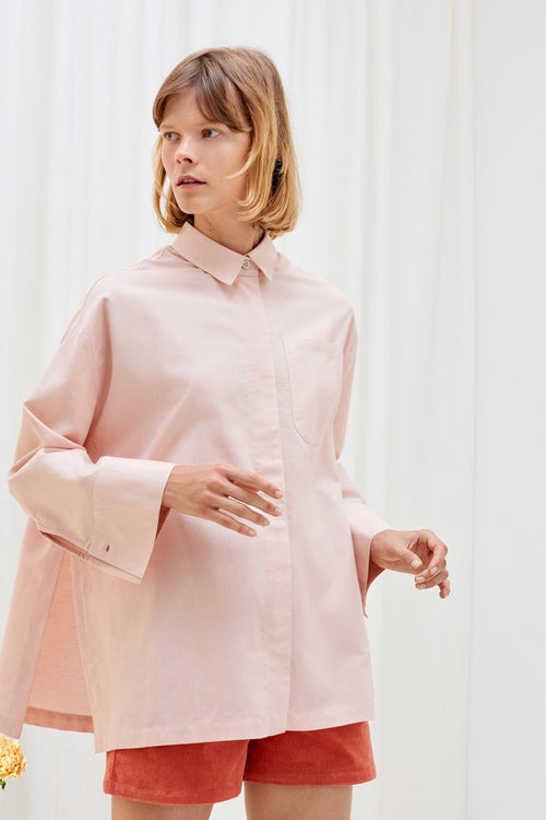 Kowtow Lines Shirt - blush – Good as Gold