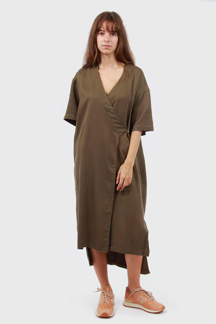 Native Youth Fauna Dress - olive | GOOD AS GOLD | NZ