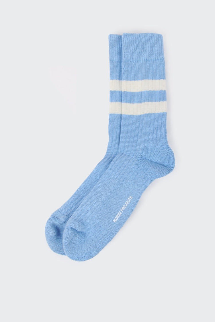 Norse Projects Bjarki Cotton Sport Socks - luminous blue | GOOD AS GOLD | NZ