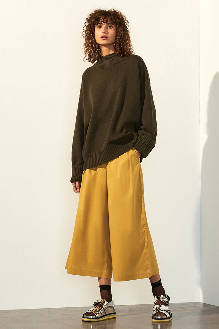 Kowtow Choreography Jumper - army green | GOOD AS GOLD | NZ