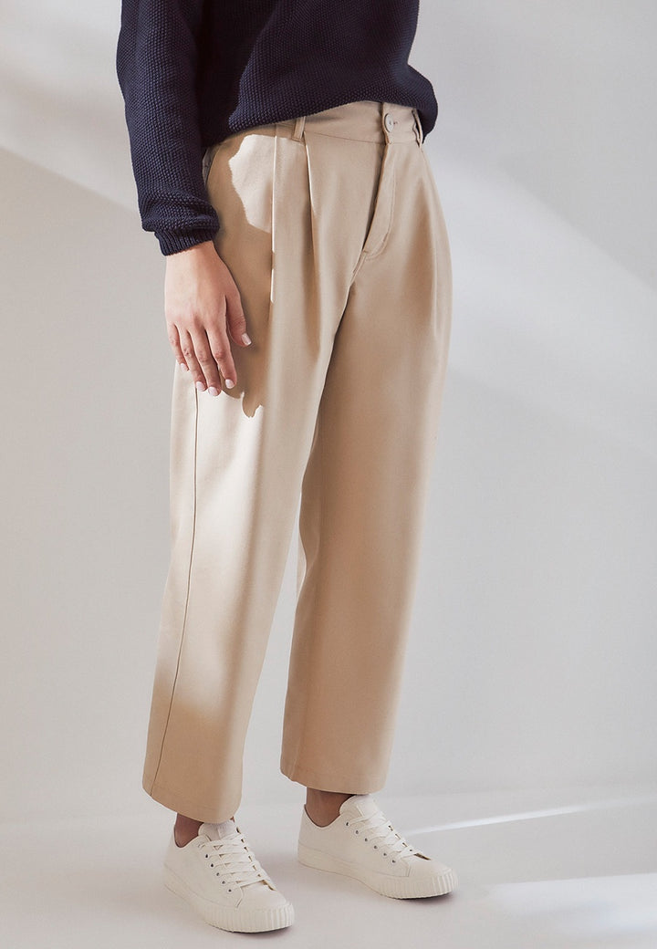 Kowtow | Faculty Pant - sand canvas | Good As Gold, NZ