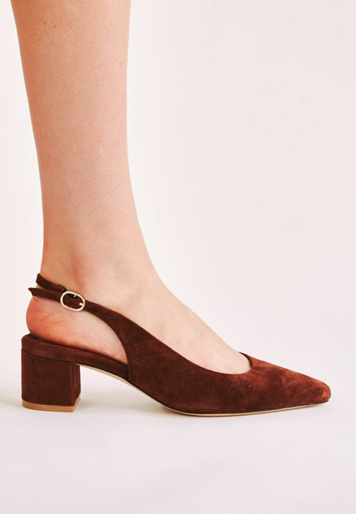 Jaggar | Solace Slingback Pump - chocolate suede | Good As Gold, NZ