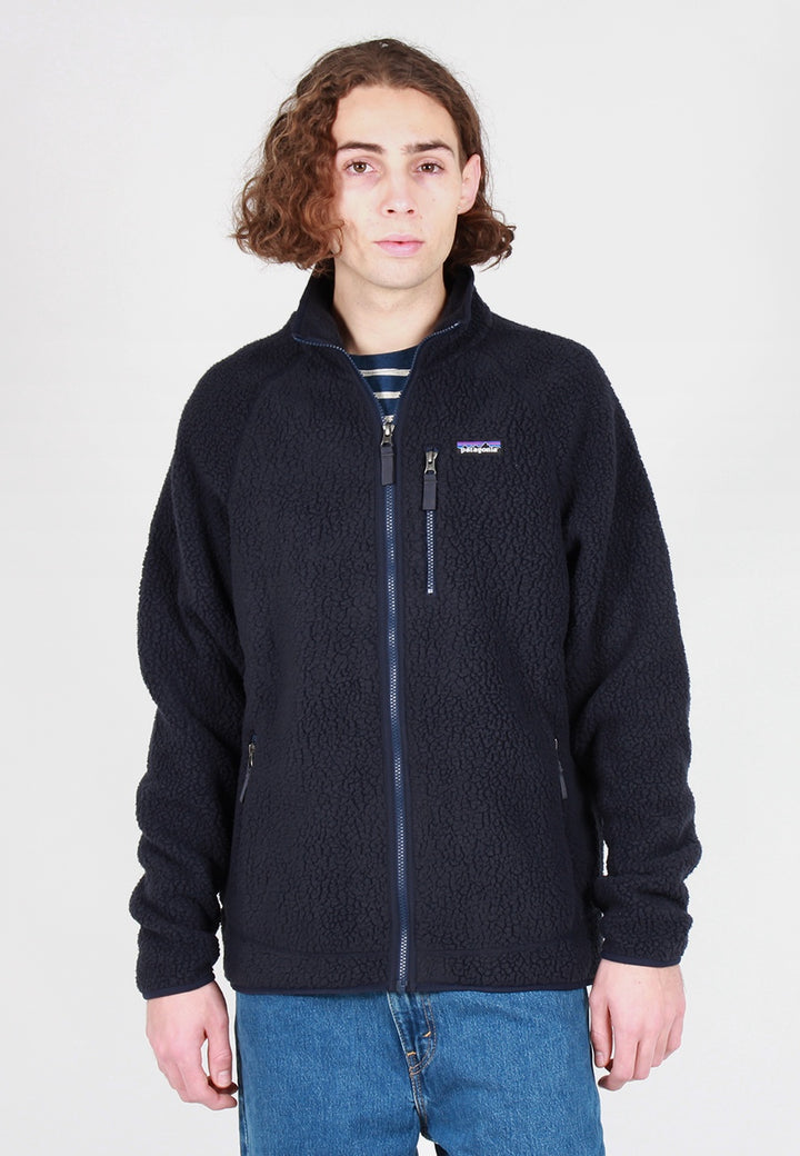 Patagonia Retro Pile Zip Up Jacket - navy blue - Good As Gold