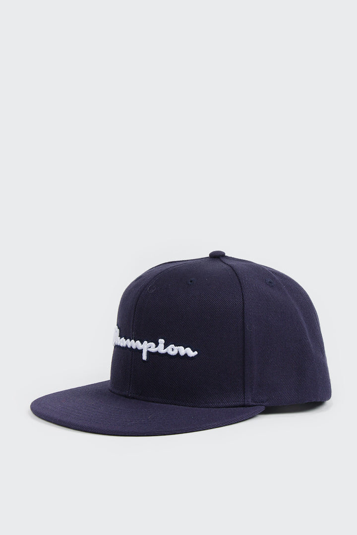 Champion BB Snapback Script - navy | GOOD AS GOLD | NZ