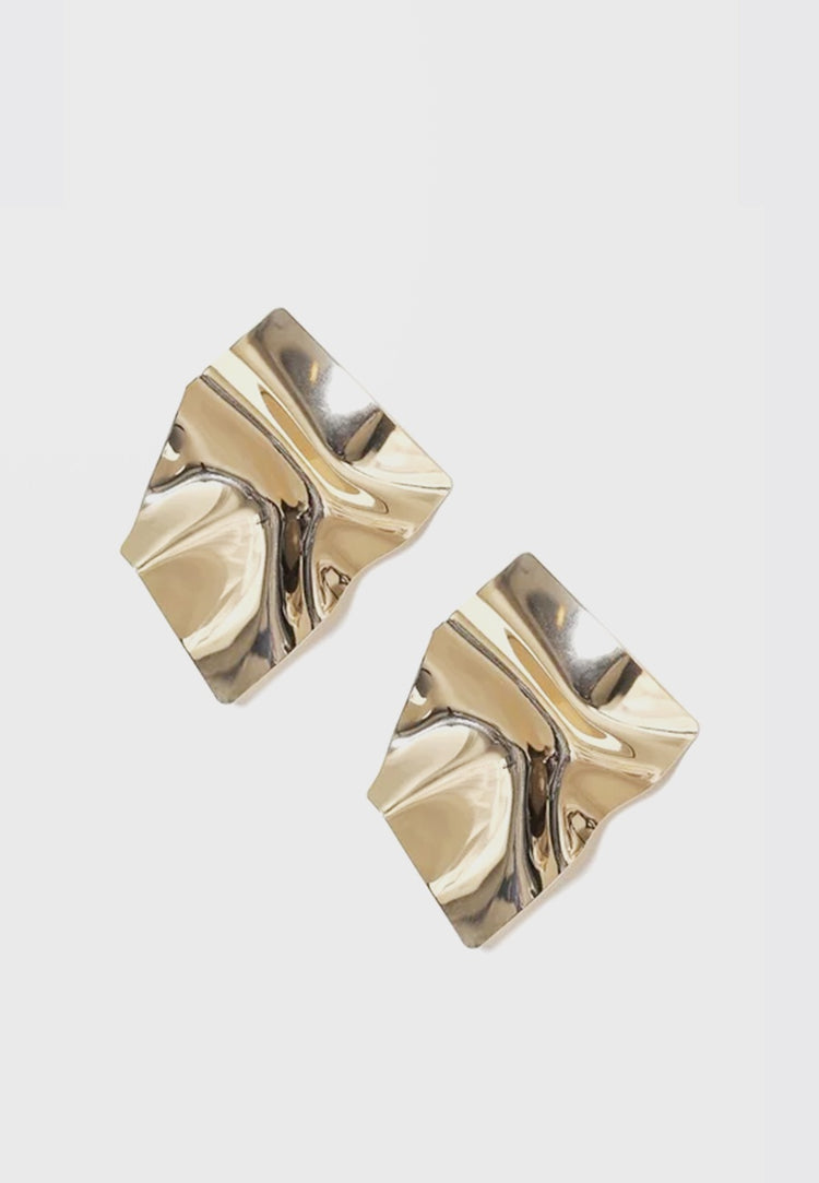 WOS Arc Earrings - gold - Good As Gold