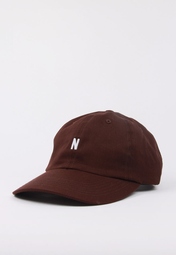 N Logo Cap - eggplant brown