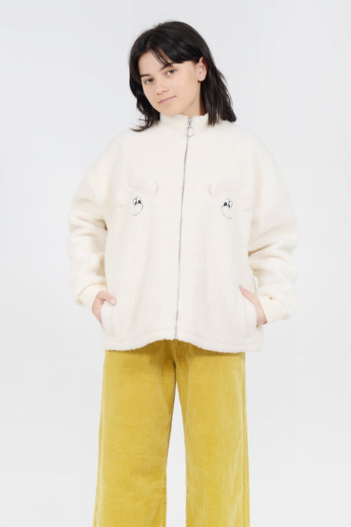 Lazy Oaf Teddy Bear Jacket - beige - Good As Gold