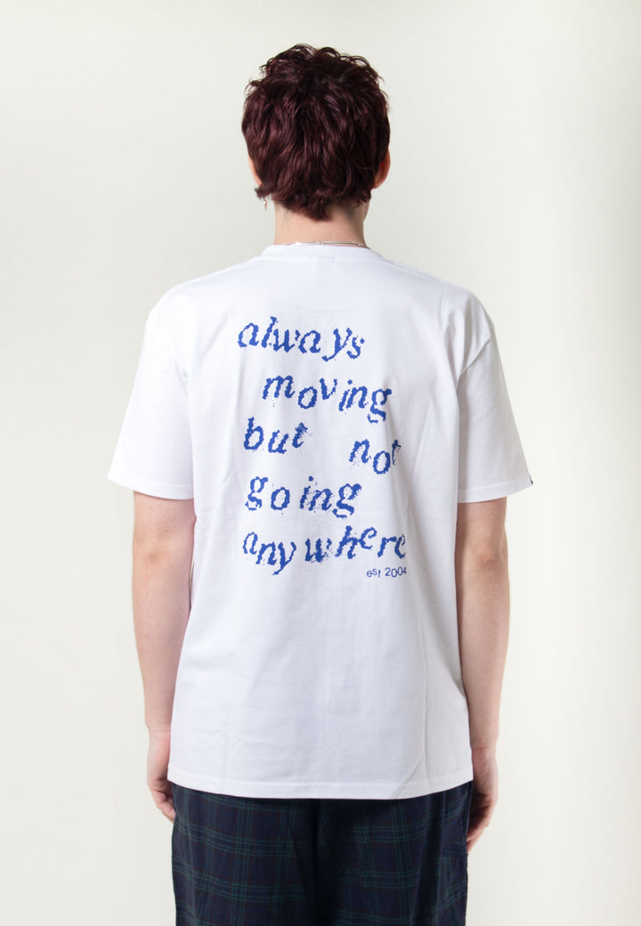 Always Moving But Not Going Anywhere - white/blue